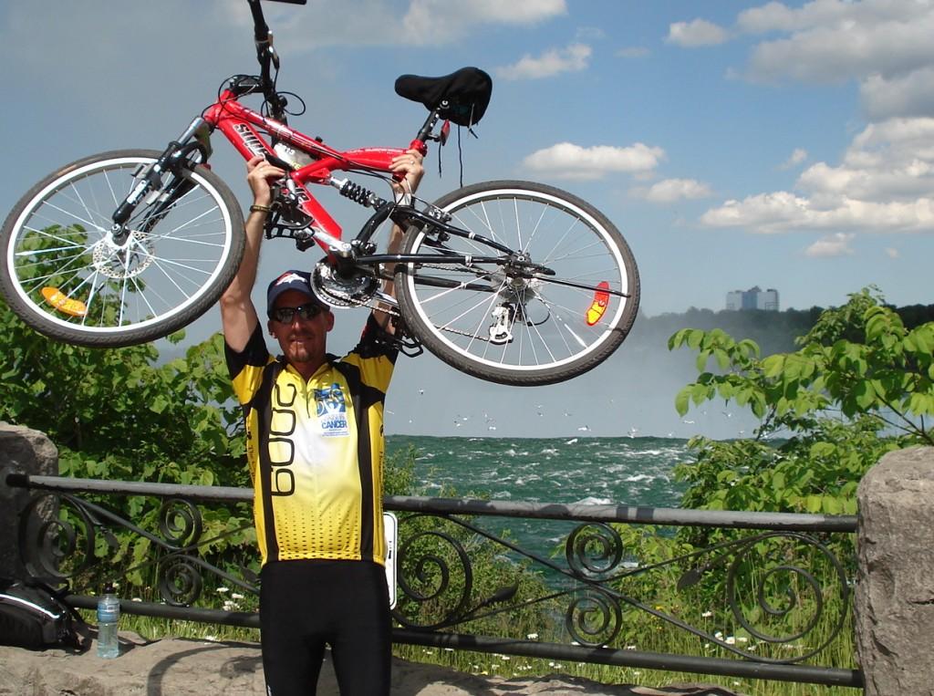 Blaser Chiropractic client participates in bike race